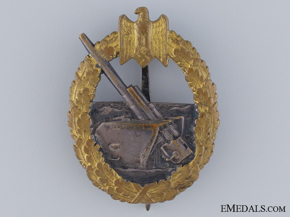 eMedals-A Coastal Artillery Badge by Schwerin of BerlinConsign:15