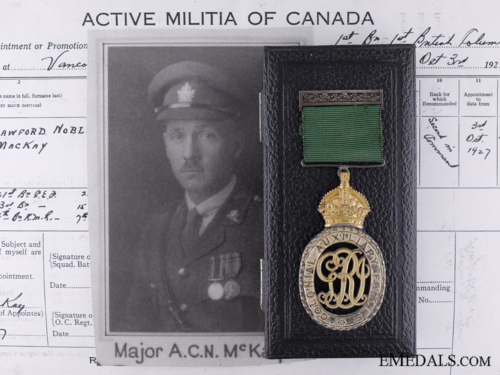 eMedals-A Colonial Auxiliary Forces Officers' Decoration to Major MacKay