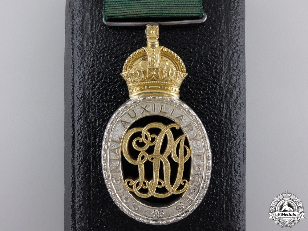 eMedals-A Colonial Auxiliary Forces Officers Decoration Grenadier Regiment
