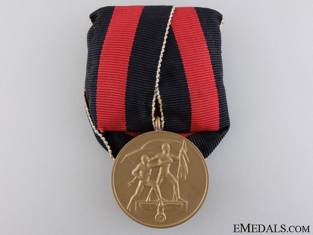 eMedals-A Commemorative Medal 1. October 1938
