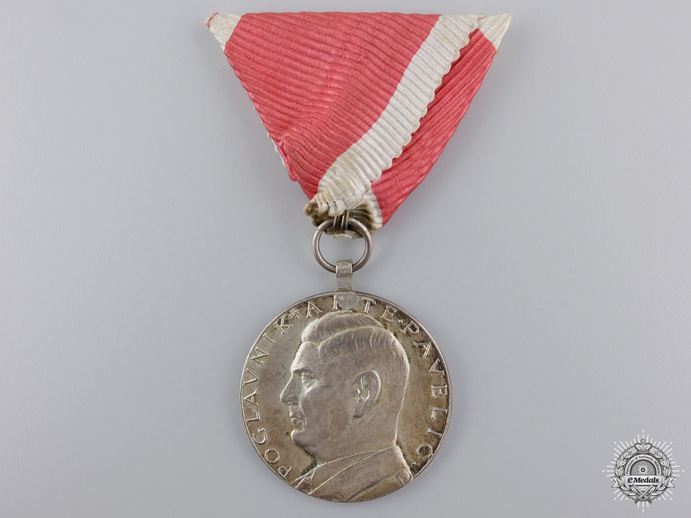 eMedals-A Croatian A. Pavelic  Silver Bravery Medal