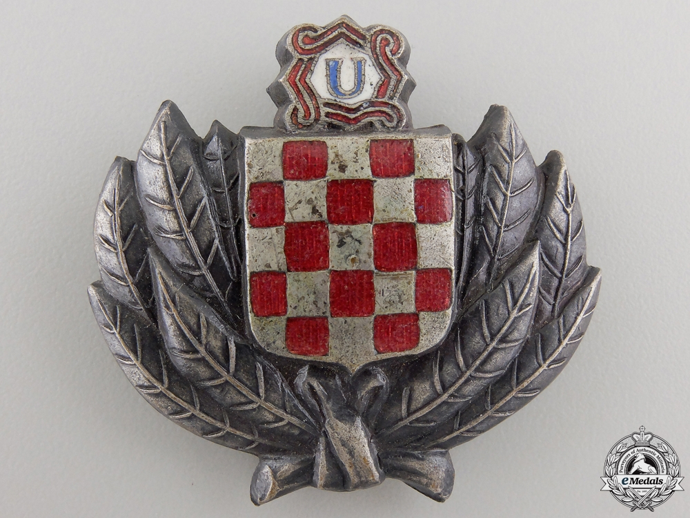 eMedals-A Croatian Financial Police Cap Badge