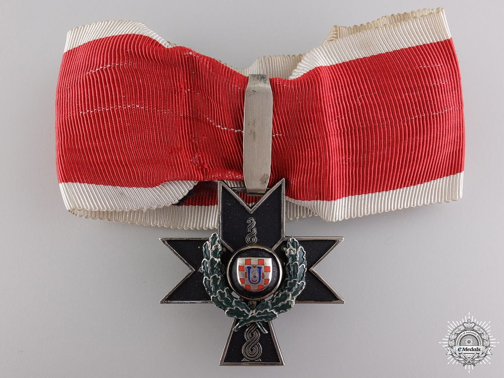 eMedals-A Croatian Order of Iron Trefoil with Oakleaves
