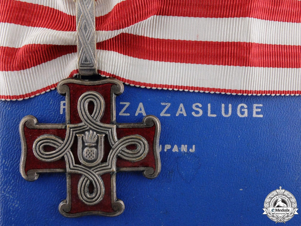 eMedals-A Croatian Order of Merit; Second Class with Case