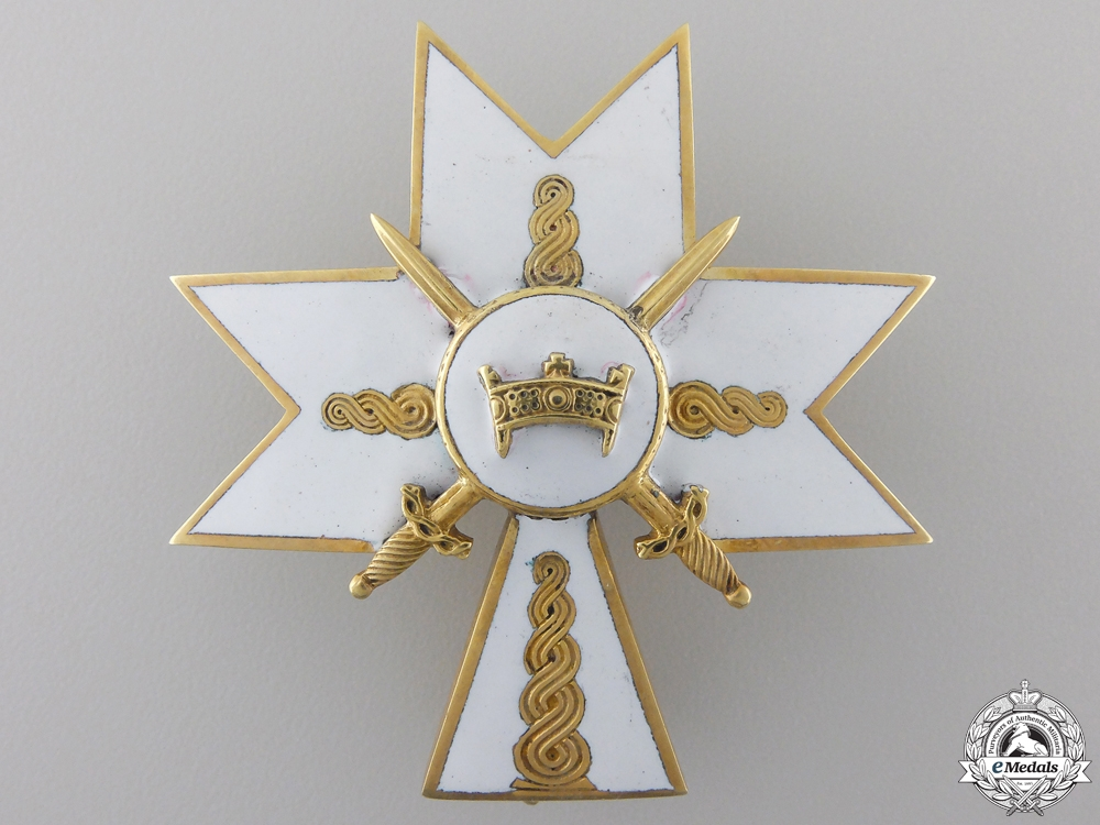 eMedals-A Croatian Order of King Zvonimir; Second Class Cross with Swords