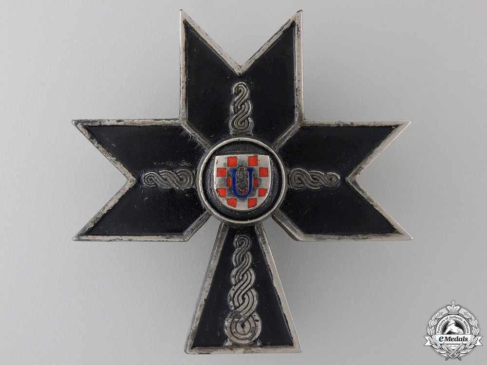eMedals-A Croatian Order of the Iron Trefoil; Second Class