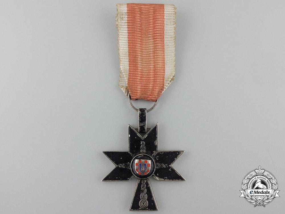eMedals-A Croatian Order of Iron Trefoil; Third Class