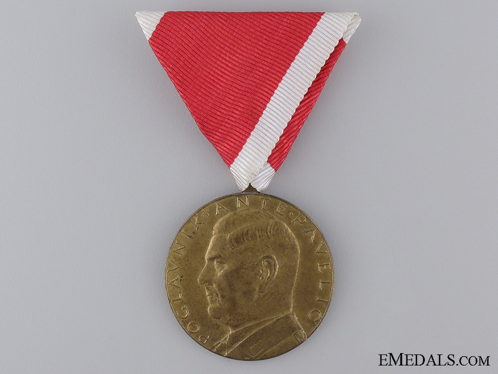 eMedals-A Croatian Second War A.Pavelic Bronze Bravery Medal