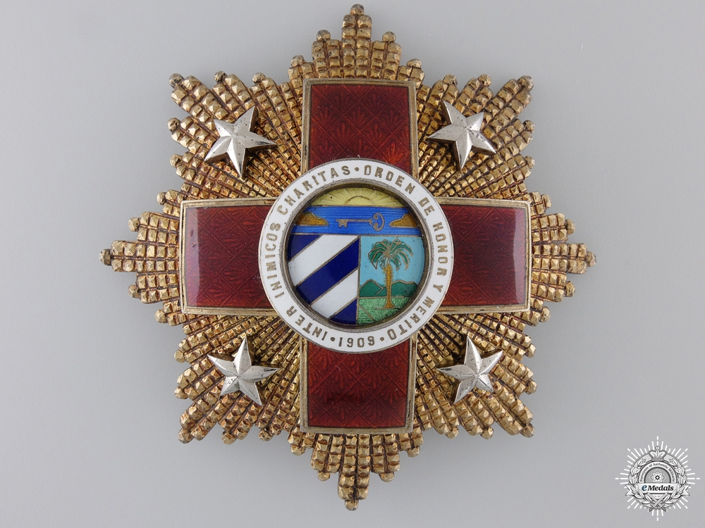 eMedals-A Cuban Red Cross Order; First Class Breast Star