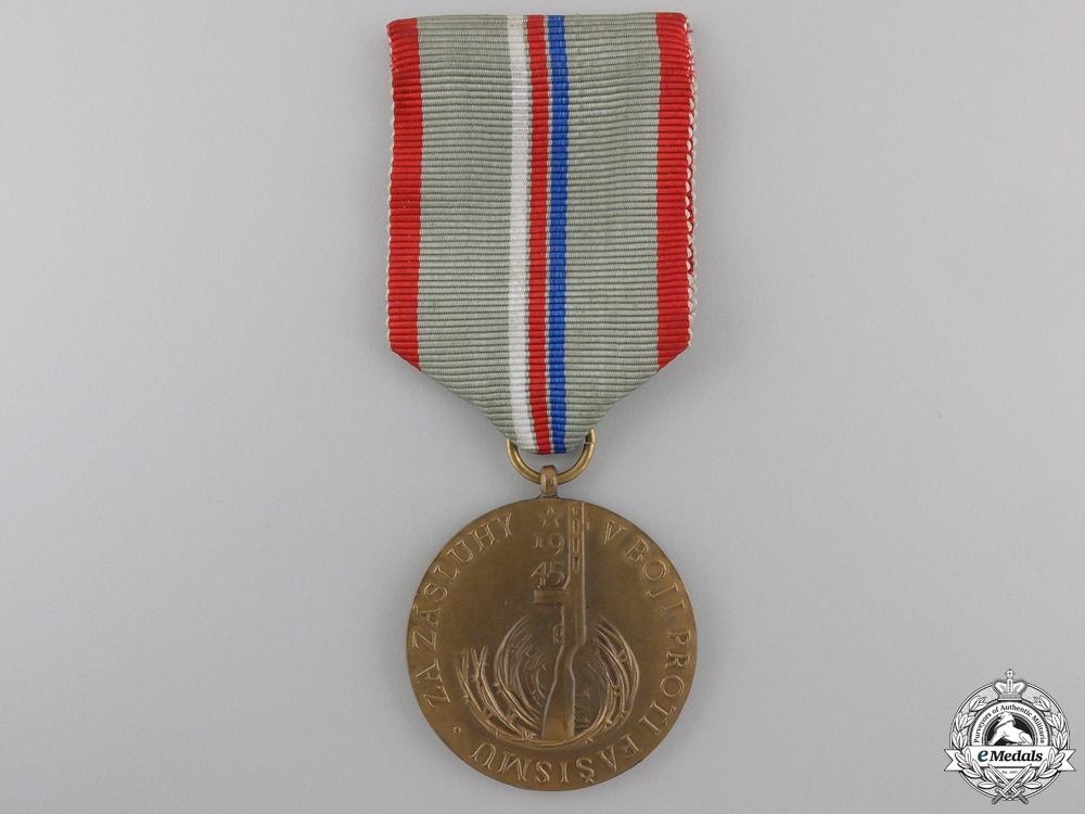 eMedals-A Czech Twenty Years of Liberation Over Germany Medal 1945-1965