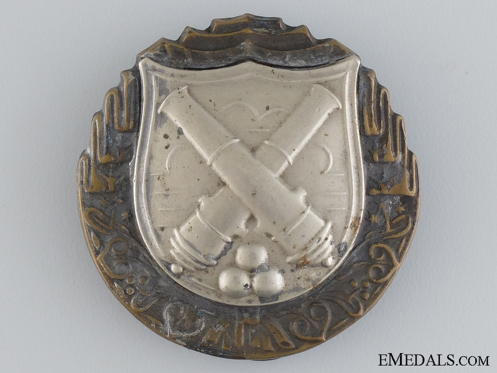 eMedals-A Czechoslovakian Artilleryman's Proficiency Badge