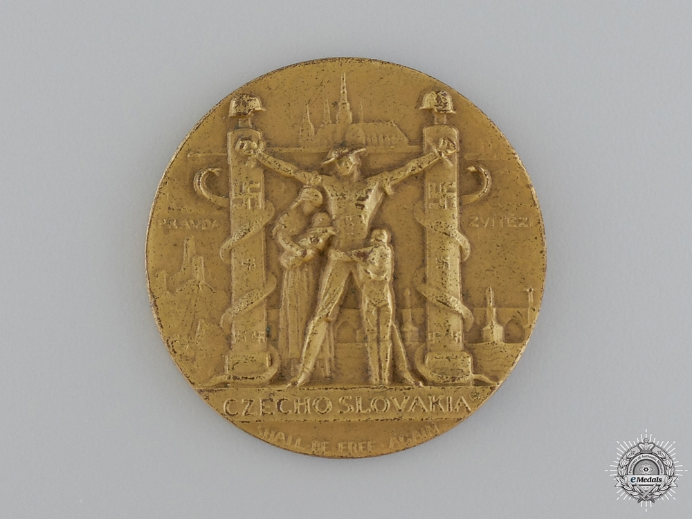 eMedals-A Czechoslovakian Anti-German Occupation Medal