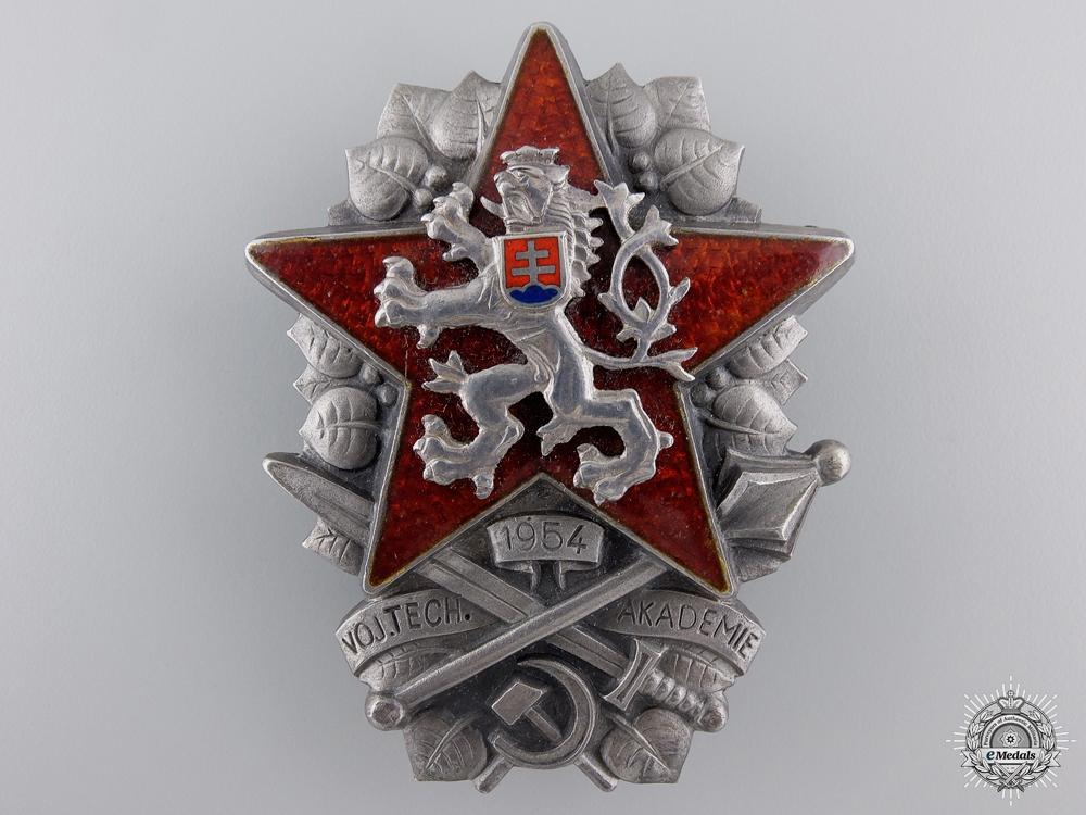 eMedals-A Czechoslovakian Socialist Military Technical Academy Badge 1954