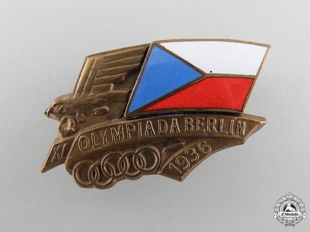 eMedals-A Czechoslovakian 1936 Berlin XI Summer Olympics Participants Pin