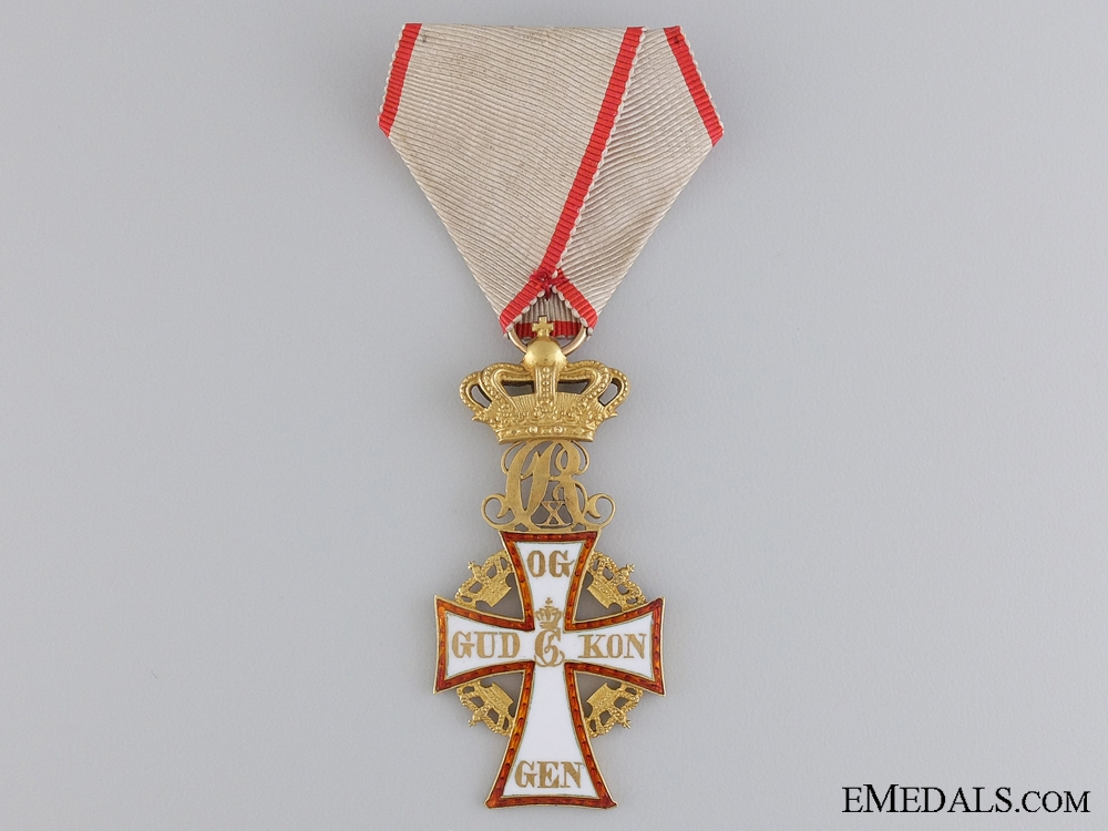 eMedals-A Danish Order of Dannebrog in Gold; Christian X (1912-1947)