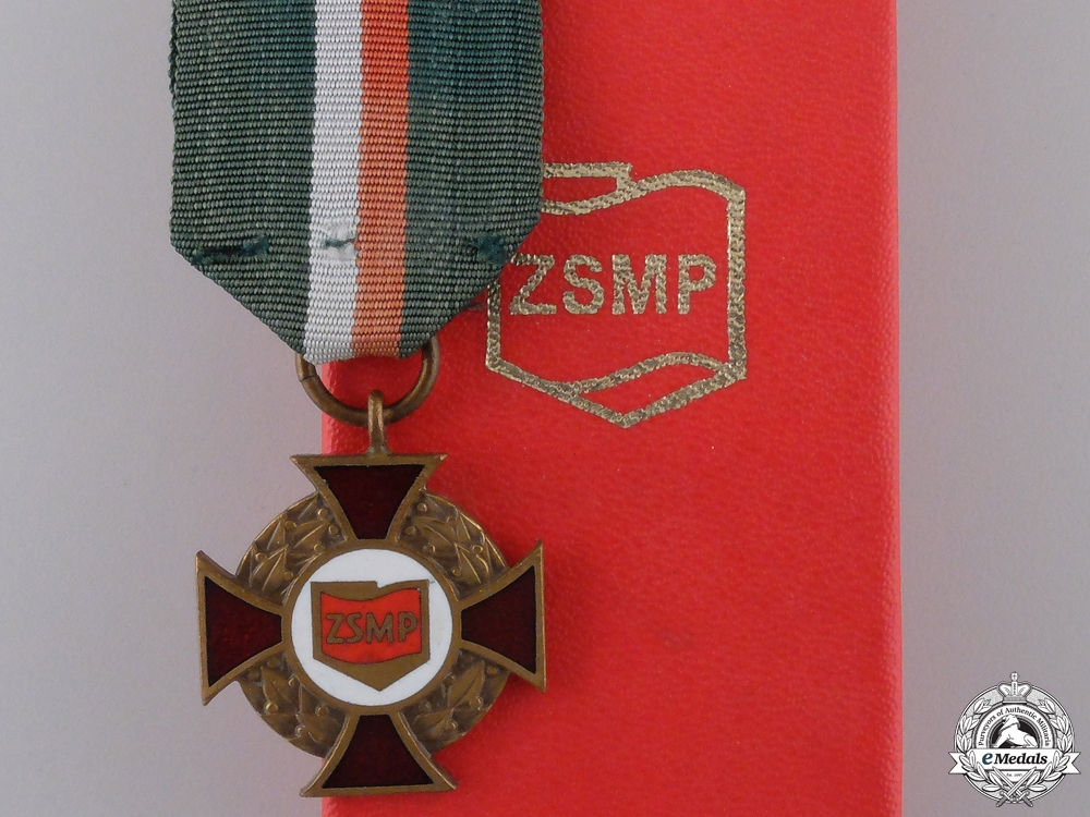 eMedals-A Decoration of Merit for the Polish Socialist Youth Association (ZSMP)