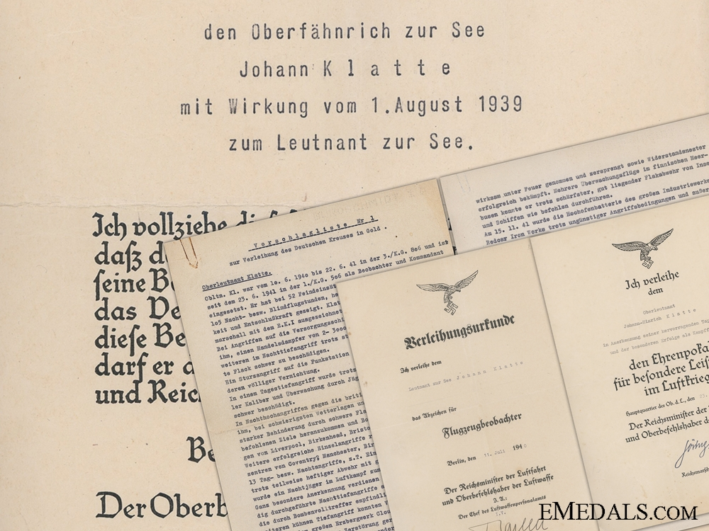 eMedals-A DKG & Honor Goblet Document Group to Observer Johann Klatte