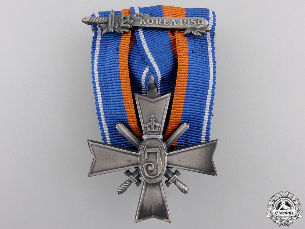 eMedals-A Dutch Cross for Rights and Freedom; Korea Clasp