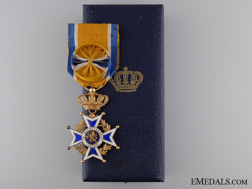 eMedals-A Dutch Order of Orange-Nassau in Gold; Officers Cross