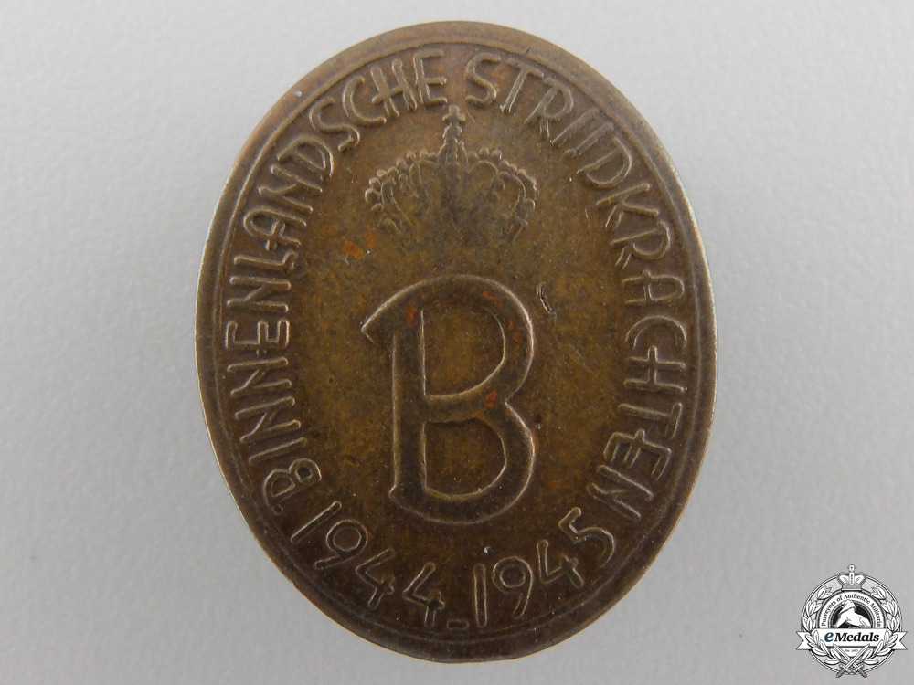 eMedals-A Dutch Prince Bernhardt Liberation Badge 1944-45