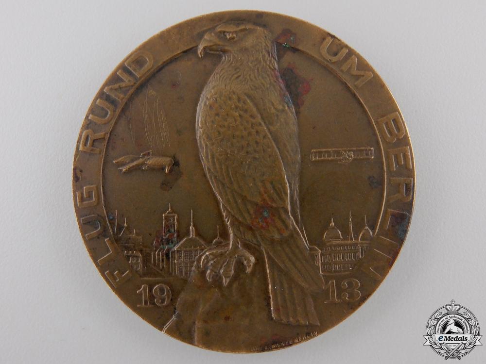 eMedals-A Early 1913 German Flight Around Berlin Aeronautical Medal