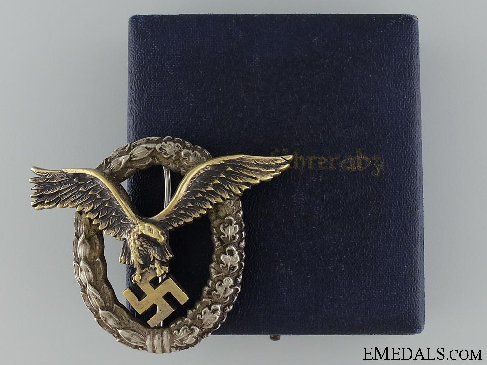 eMedals-A Early Pilot Badge by Juncker to Kurt Muller of Stuka I