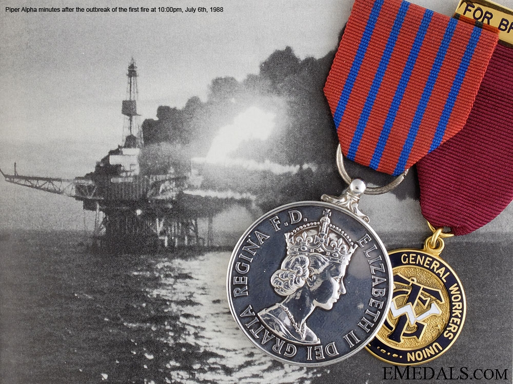 eMedals-A Posthumous George Medal for the 1988 Piper Alpha Disaster
