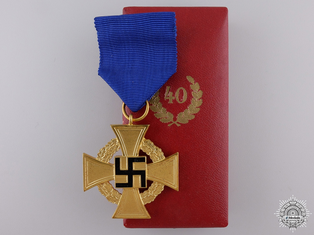 eMedals-A Faithful Service Decoration; 1st Class for Forty Years