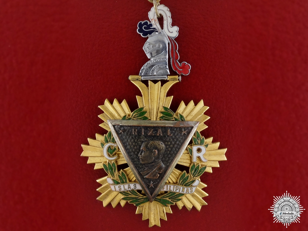 eMedals-Philippines, Republic. An Order of the Knights of Rizal, Commander, by Angel Zamora & Sons