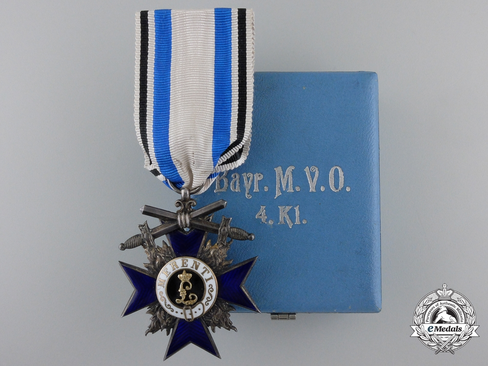 eMedals-A Fine Bavarian Military Merit Order; 4th Class by Gebrüder Hemmerle
