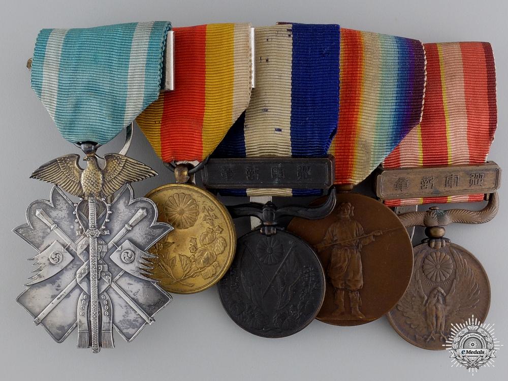 eMedals-A Fine First War & Korean Annexation  Japanese Medal Bar