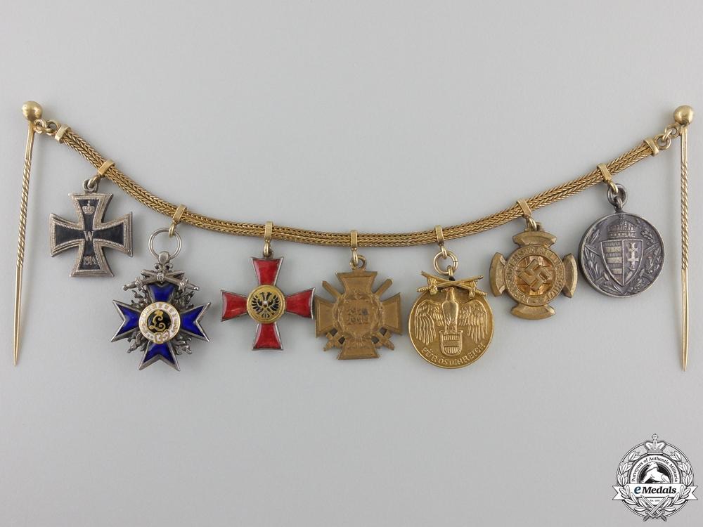eMedals-A Fine First War Bavarian Military Merit Miniature Chain
