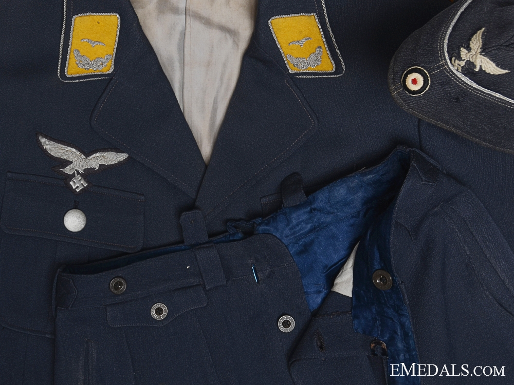 eMedals-A Fine Fliger's Luftwaffe Tunic, Trousers & Side Cap