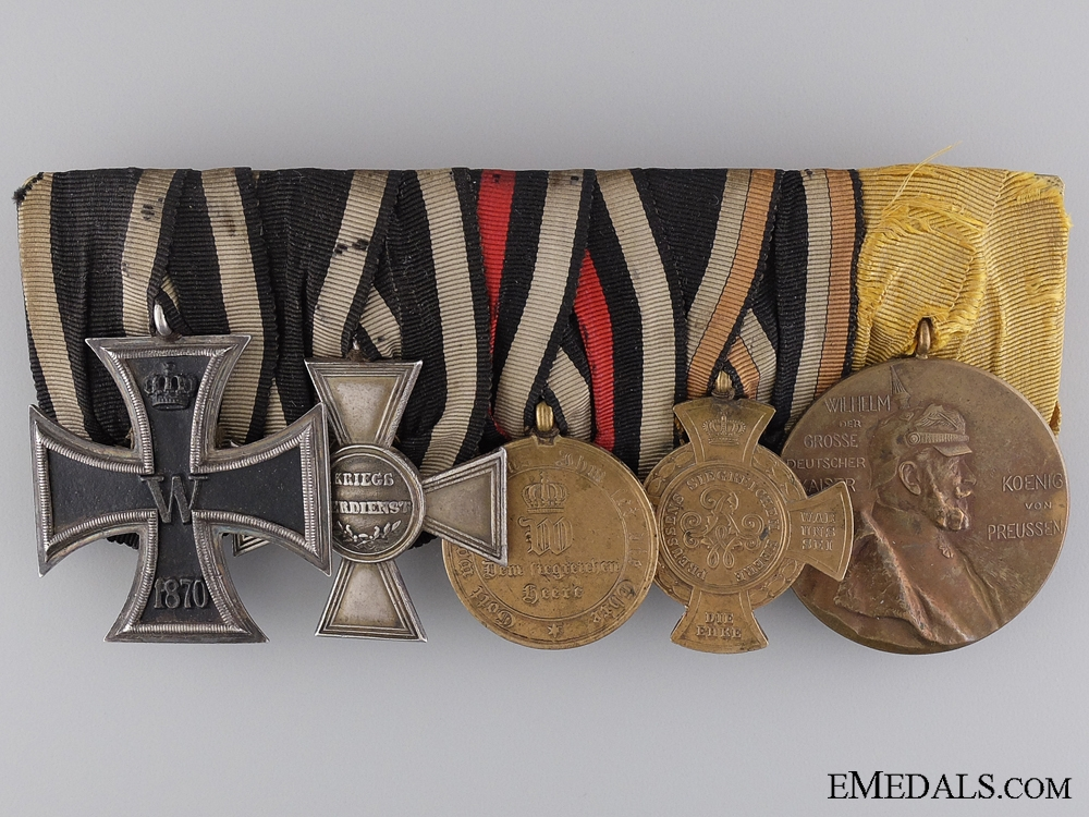 eMedals-A Fine Franco-Prussian Group of Five with Military Honour Cross