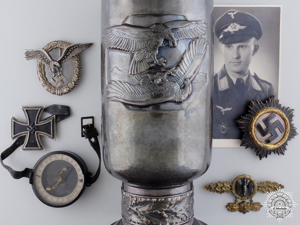 eMedals-A Fine Grouping to a Stuka Pilot, Silver Goblet & DKG Winner