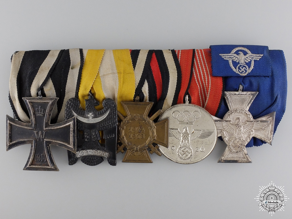 eMedals-A Fine Olympic & Silesian Eagle German Medal Bar