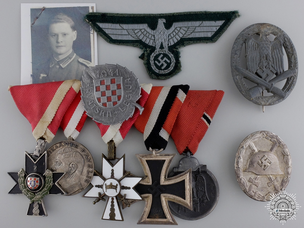 eMedals-Croatia. A Fine Second War Group to the 369th Regiment