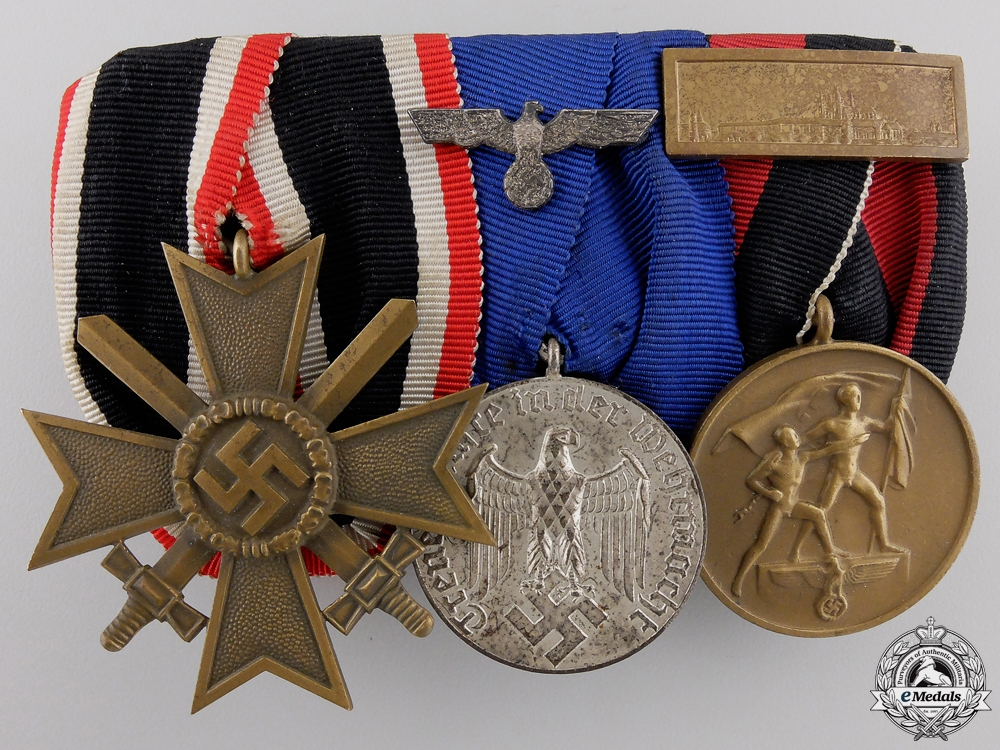 eMedals-A Fine Second War German Army Long Service Medal Bar