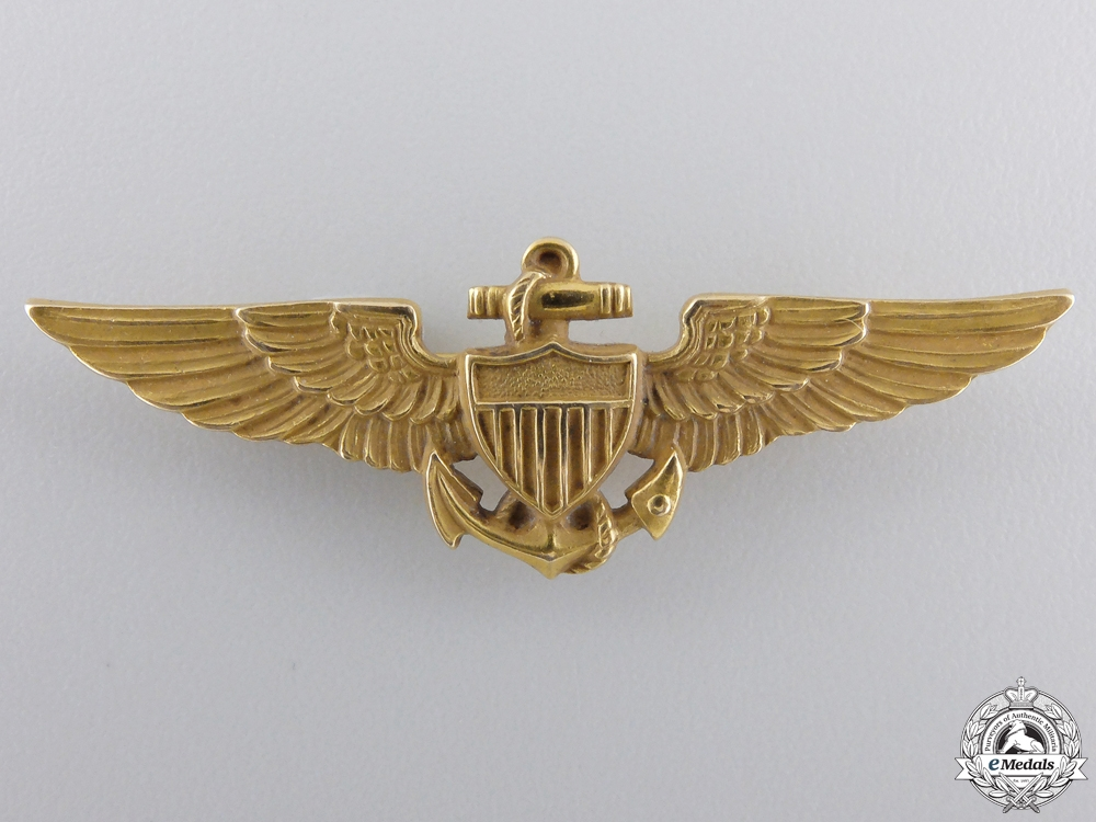 eMedals-A Fine Second War American Naval Aviator Wing