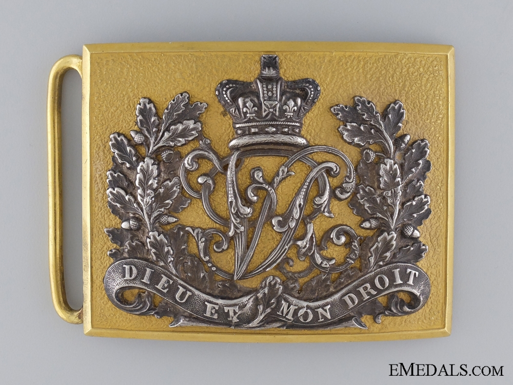 eMedals-A British Officer's Victorian Belt Buckle
