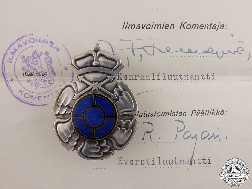 eMedals-A Finish Air Gunner & Radio Operator to Flight Regiment 4