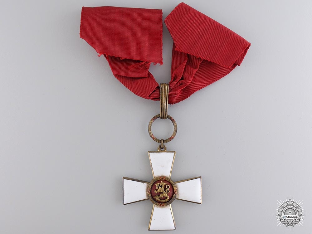 eMedals-A Finnish Order of the Lion; Commander's Neck Cross