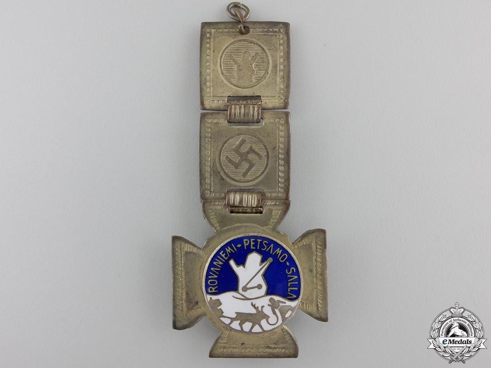 eMedals-A Finnish Rovaniemi Petsamo Salla Travelling Badge with Fob