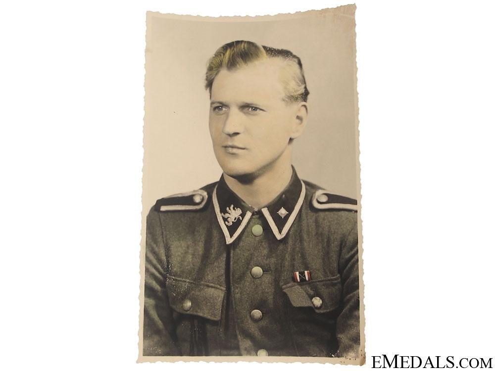 eMedals-A Finnish SS Volunteer Colour Photograph