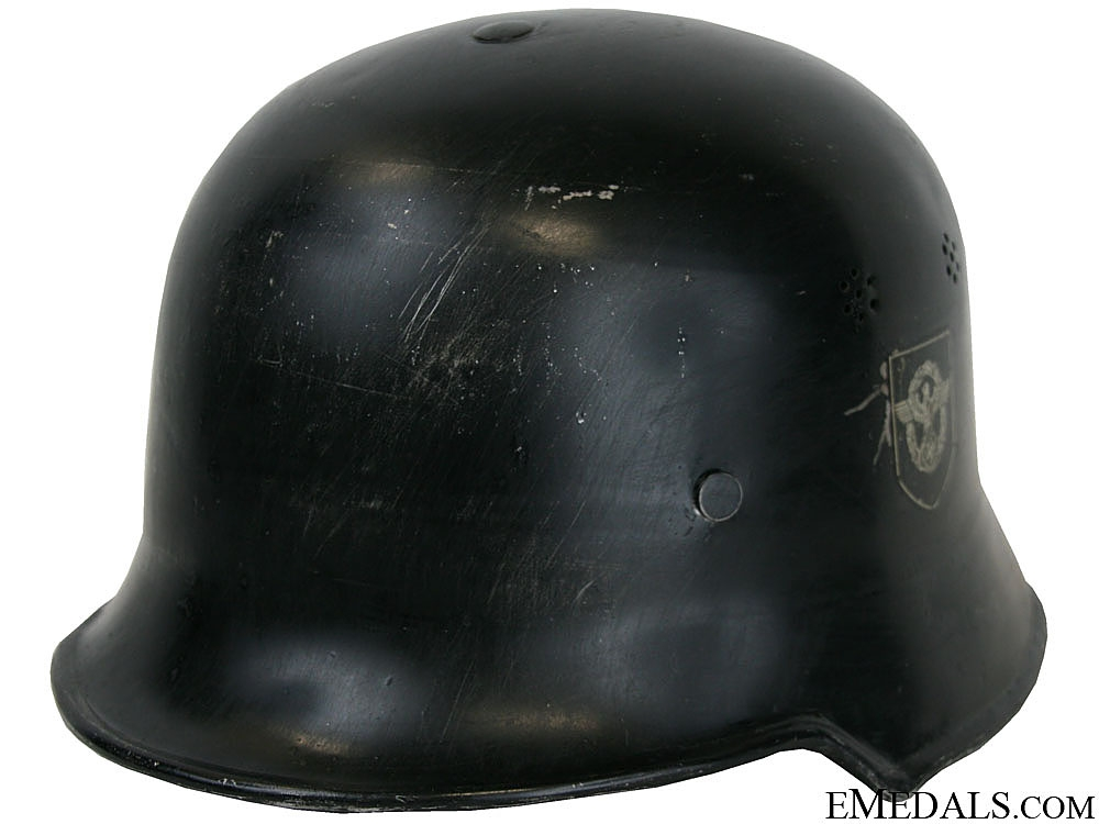 eMedals-A Fire Police Double Decal Parade Helmet