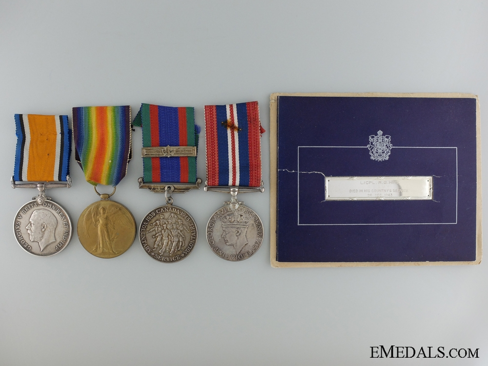 eMedals-A First & Second War Memorial Group to the 18th Canadian Infantry