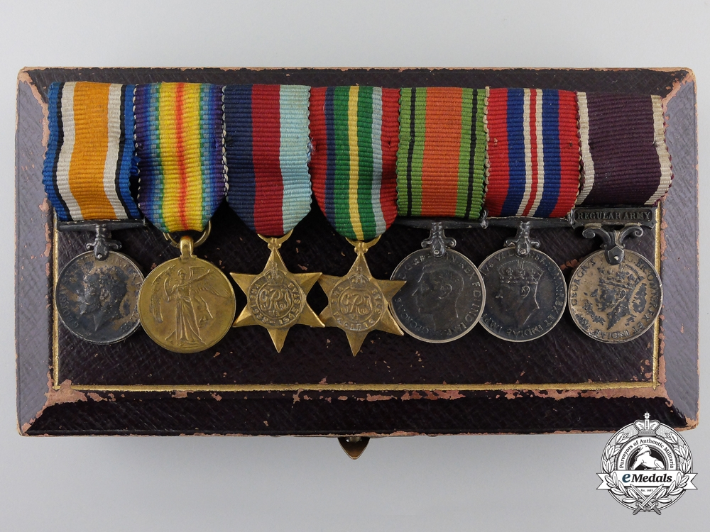 eMedals-A First & Second War British Pacific Theatre Miniature Group