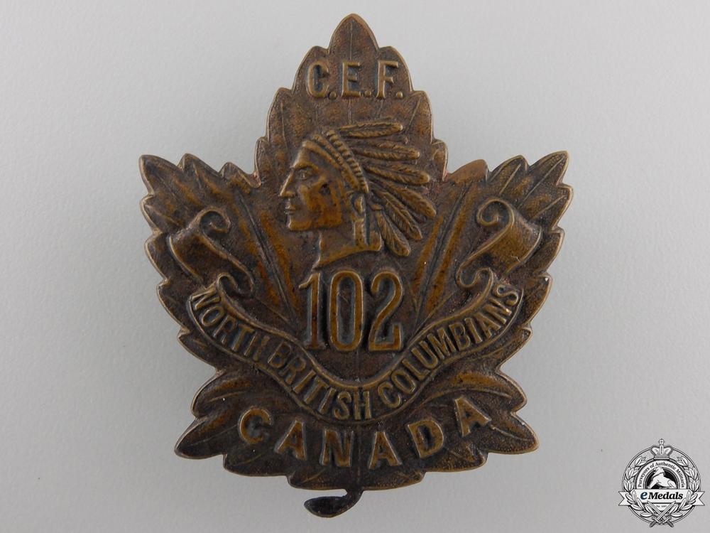 eMedals-A First War 102nd Infantry Battalion Cap Badge