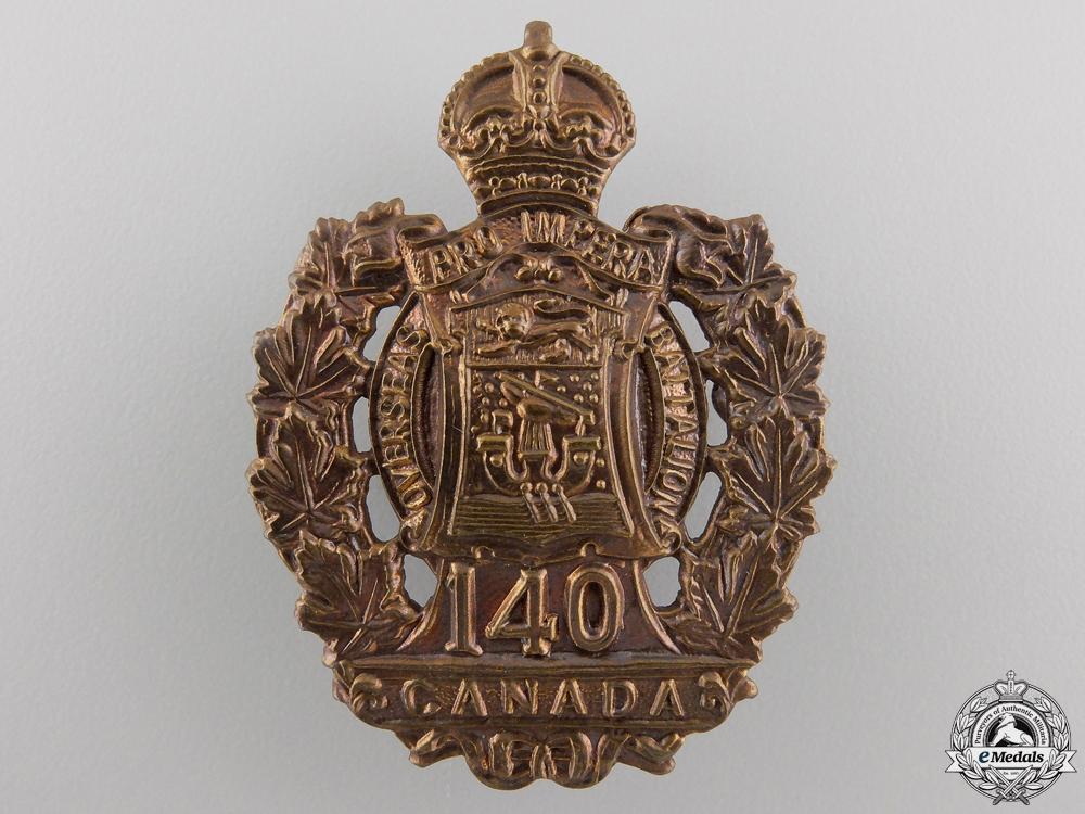 eMedals-A First War 140th Battalion Cap Badge