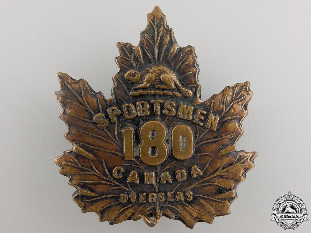 eMedals-A First War 180th Infantry Battalion Cap Badge CEF